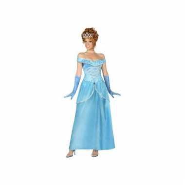 Blauwe ijsprinses jurk