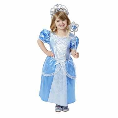 Blauwe prinsessenjurk voor meisjes