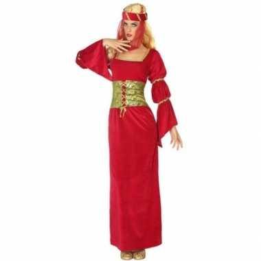 Carnavalskostuum middeleeuwse ridderdame / prinses