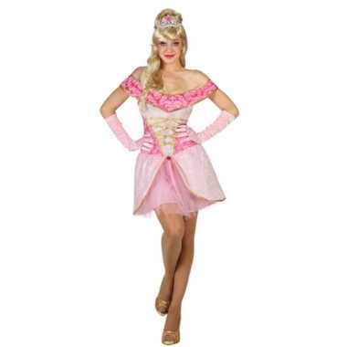 f96869c2769d79 Dames prinsessen jurk roze