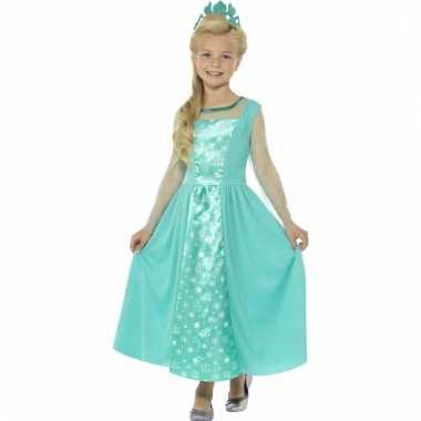 Ijsprinses jurk met kroon voor meisjes