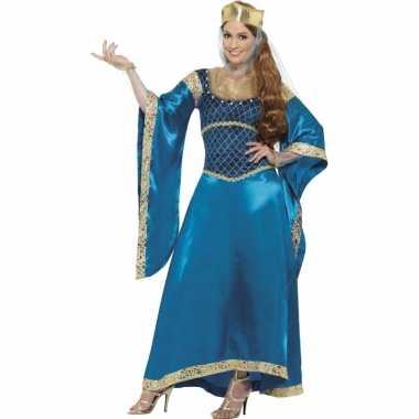 Prinsessen jurk in de kleur blauw