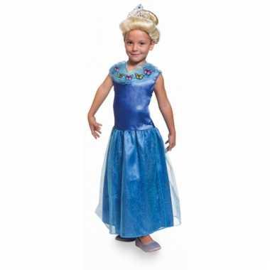 Prinsessen verkleedkleding blauw kinderen
